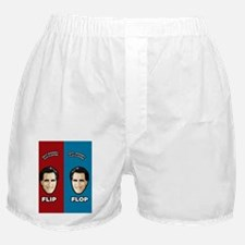 romneyflipflops_redblue Boxer Shorts