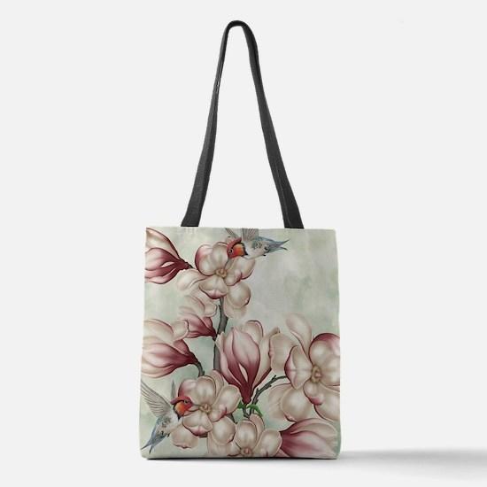 Magnolia Colibries Polyester Tote Bag