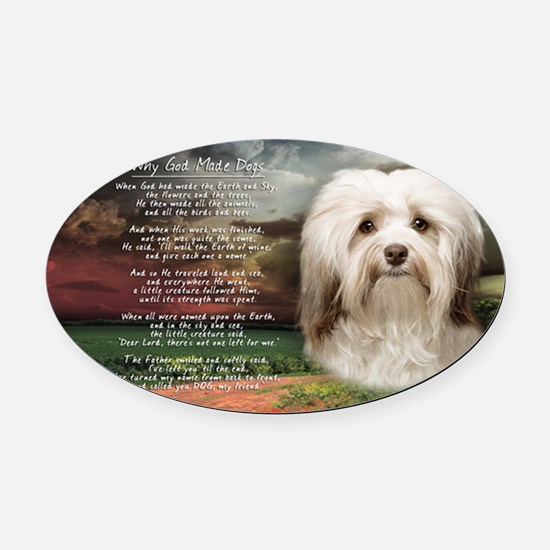 godmadedogs(license) Oval Car Magnet