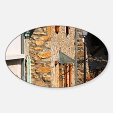 In Condrieu: old stone houses and a Sticker (Oval)