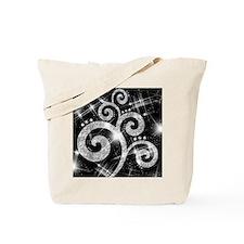 Silver Glitter Swirl Tote Bag