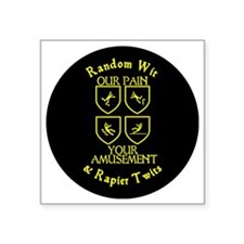 """Our Pain Circle Square Sticker 3"""" x 3"""""""