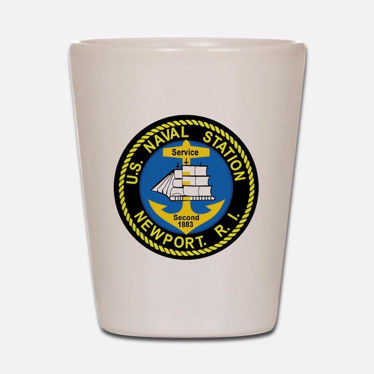 NEWPORT US Naval Station Rhode Island M Shot Glass