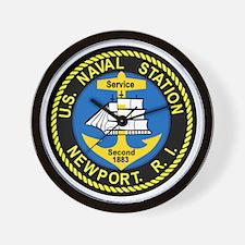 NEWPORT US Naval Station Rhode Island M Wall Clock