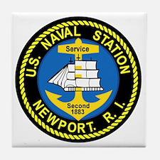 NEWPORT US Naval Station Rhode Island Tile Coaster