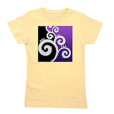 Stylish Swirls Purple Girl's Tee
