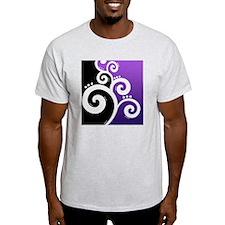 Stylish Swirls Purple T-Shirt