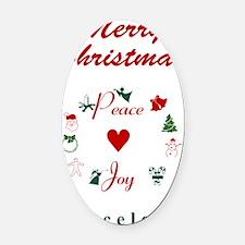 Barcelona_5x7_Christmas Stocking_P Oval Car Magnet