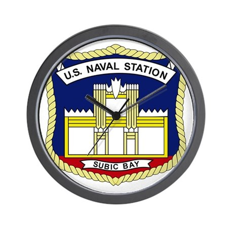 US NAVAL STATION SUBIC BAY PHILIPPINES Wall Clock