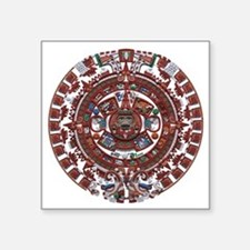 "Mayan Calender Square Sticker 3"" x 3"""