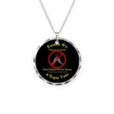 Narwhal Jousting Circle Necklace