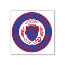 "US NAVAL STATION GUANTANAMO Square Sticker 3"" x 3"""