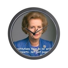 Thatcher Hearts Quote Color Wall Clock