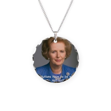 Thatcher Hearts Quote Color Necklace Circle Charm