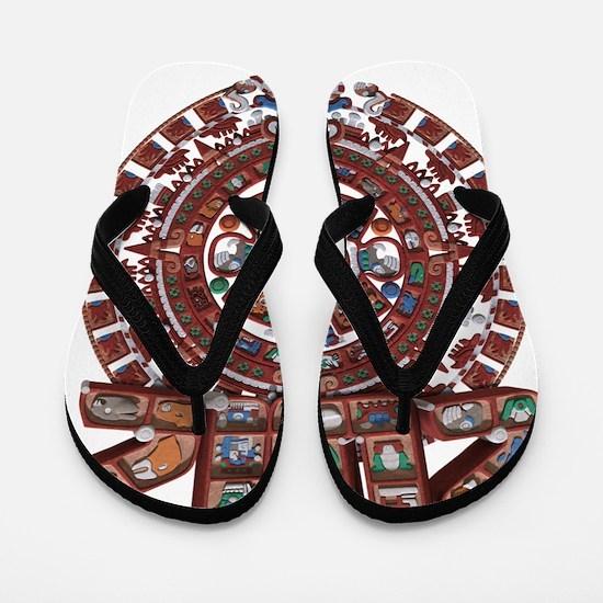 Mayan Calender 2012 Flip Flops
