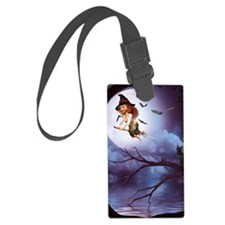 little_witch_16x20_print Luggage Tag