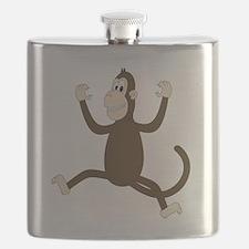 Monkey On My Back (white WoP) Flask