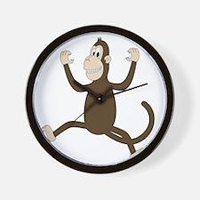 Monkey On My Back (white WoP) Wall Clock