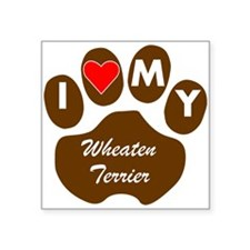 I Heart My Wheaten Terrier Sticker
