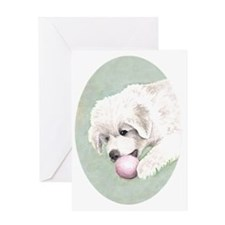 puppy_aquarell3 Greeting Card