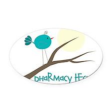 pharmacy tech bird Oval Car Magnet