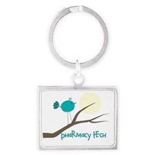 pharmacy tech bird Landscape Keychain