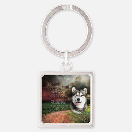 godmadedogs(button) Square Keychain