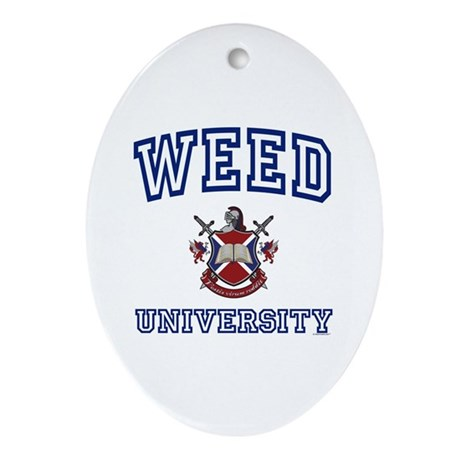 WEED University Oval Ornament