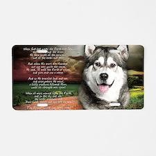 godmadedogs(laptop) Aluminum License Plate
