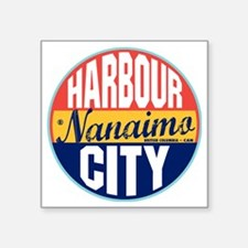 "Nanaimo Vintage Label W Square Sticker 3"" x 3"""
