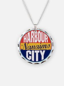 Nanaimo Vintage Label W Necklace Circle Charm