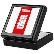 British Red Telephone Box Keepsake Box