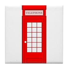 British Red Telephone Box Tile Coaster