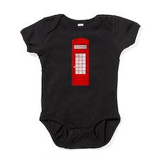 British Red Telephone Box Baby Bodysuit