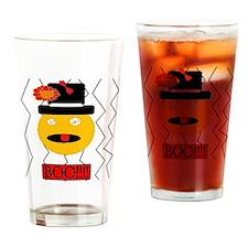 Scary Orange Drinking Glass