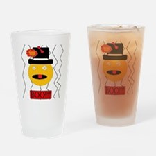 Scary Orange Drinking Glass
