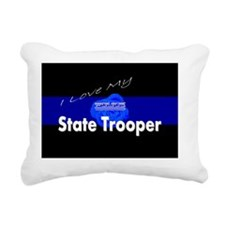 Love my state trooper Rectangular Canvas Pillow