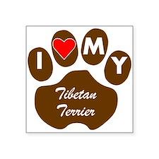 I Heart My Tibetan Terrier Sticker