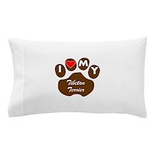 I Heart My Tibetan Terrier Pillow Case