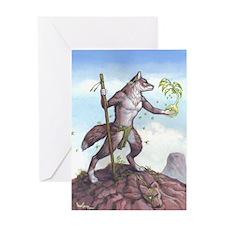 Earth Wolf CARD Greeting Card