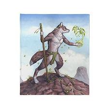 Earth Wolf TEE Throw Blanket