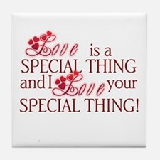 Love is Special Tile Coaster