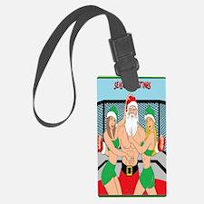 Santa and Octogon Girls Luggage Tag