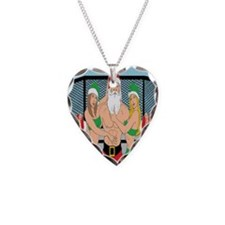 Santa and Octogon Girls Necklace