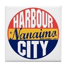 Nanaimo Vintage Label B Tile Coaster