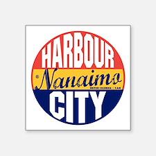 "Nanaimo Vintage Label B Square Sticker 3"" x 3"""