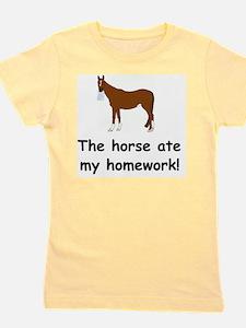 horse ate my homework Girl's Tee