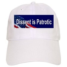Sticker (Bumper) dissent is patriotic Baseball Cap