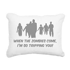 ZombiesTripping3 Rectangular Canvas Pillow