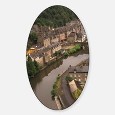 Dinan. View of Rance River Port Are Decal